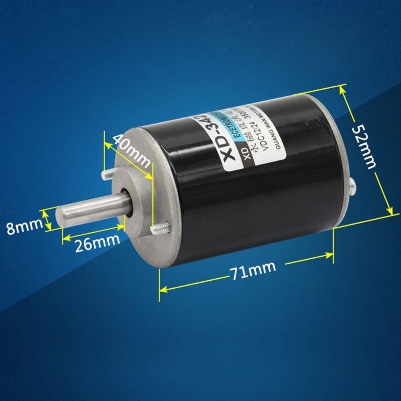 XD-3420 Permanent Magnet DC Motor 12V/3000RPM High Torque