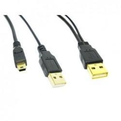USB(A)-USB(A)+MINI(B)
