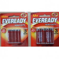 1.5V AAA Eveready 4pcs Battery