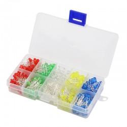 125PCS 5mm/3mm LED Kit Box,...
