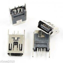Mini USB Type B Socket...